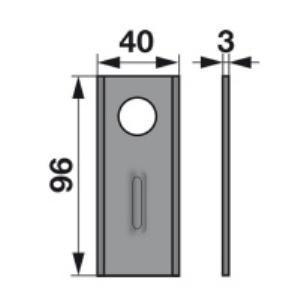 Kreiselmäherklingen Super96 zu Rasspe Trommelmäher