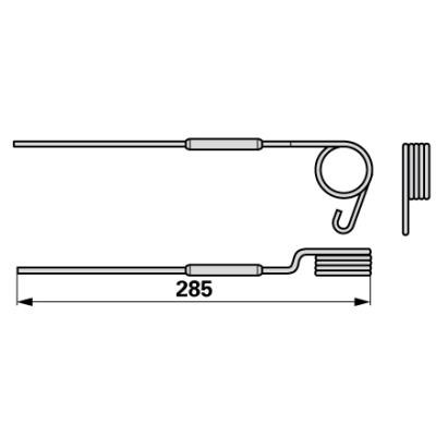 Federzinke rechts PZ00276 zu PZ-Vicon