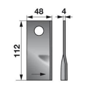 Kreiselmäherklingen links GM165 zu PZ-Vicon Trommelmäher