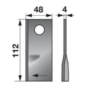 Kreiselmäherklingen rechts GM166 zu PZ-Vicon Trommelmäher