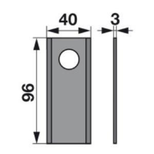 Kreiselmäherklingen VF06561542 zu PZ-Vicon Trommelmäher