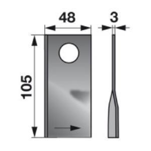 Kreiselmäherklingen links VGCM137 zu PZ-Vicon Trommelmäher