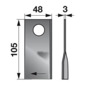 Kreiselmäherklingen rechts VGCM138 zu PZ-Vicon Trommelmäher