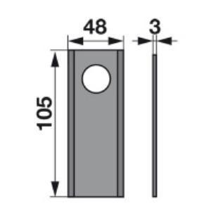 Kreiselmäherklingen VGCM15 zu PZ-Vicon Trommelmäher