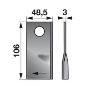 Kreiselmäherklingen rechts VGDN382 zu PZ-Vicon Trommelmäher