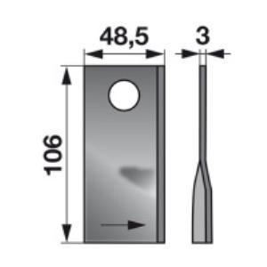Kreiselmäherklingen links VGDN383 zu PZ-Vicon Trommelmäher