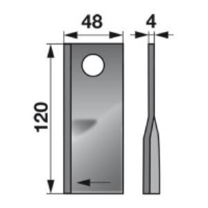 Kreiselmäherklingen rechts VN99358700 zu PZ-Vicon Trommelmäher