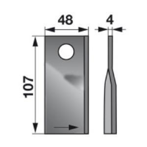 Kreiselmäherklingen links VN99361559 zu PZ-Vicon Trommelmäher