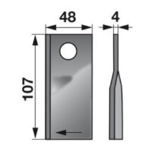 Kreiselmäherklingen rechts VN99361560 zu PZ-Vicon Trommelmäher