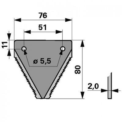 Rasspe Mähmesserklinge gezahnt 25 Stück RS7500R