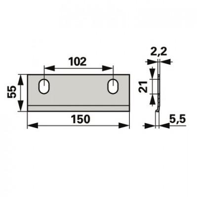 Rasspe Reibungsplatte RS7504