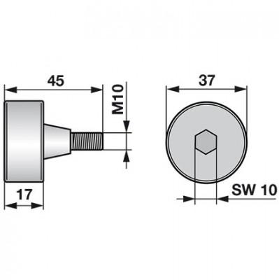 Reform Antriebsrolle aus Vollguss Dm 37 mm B524.485062