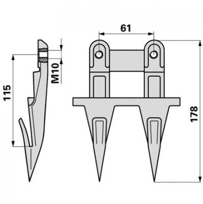 Reform Doppelfinger H150.186.000