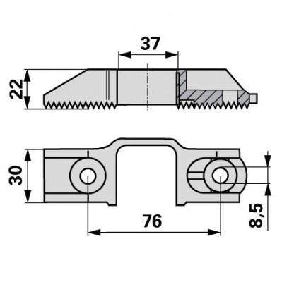 Reform Messerkopf aus Alu mit Stahlfedereinlage B590.485361