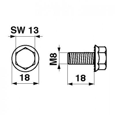 Reform Messerkopfschraube verzinkt M8 x 18, 10 Stück 999.111.301