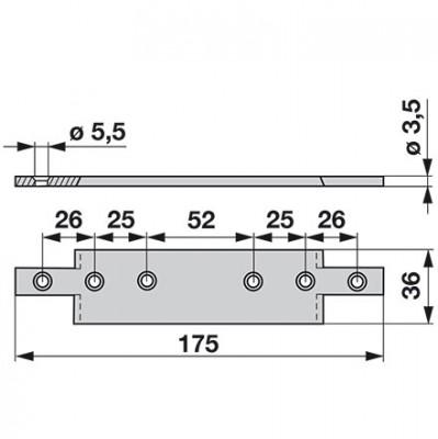 Aebi  Mitnehmerplatte zu  A71 + A73 + A81 + A83