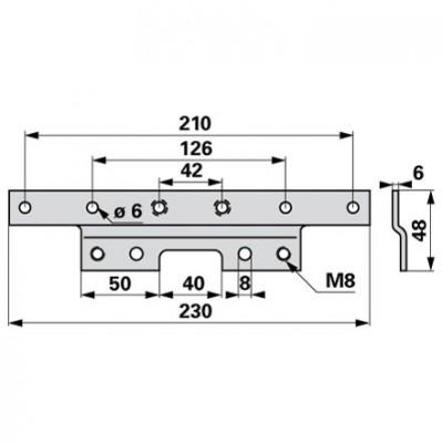 Aebi  Mitnehmerplatte zu ESM Doppelmesserbalken BIDUX