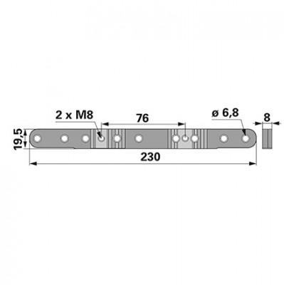 Aebi  Mitnehmerplatte zu  BCS Laser Balken