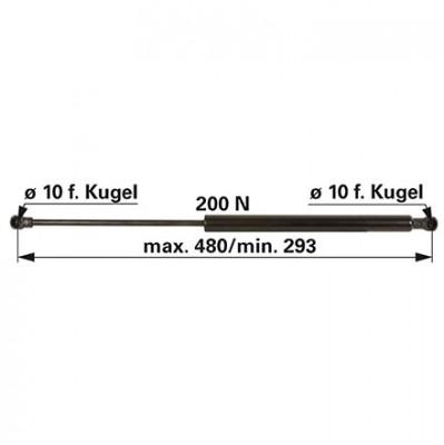 Gasdruckfeder 0.9241.140.4 zu Same