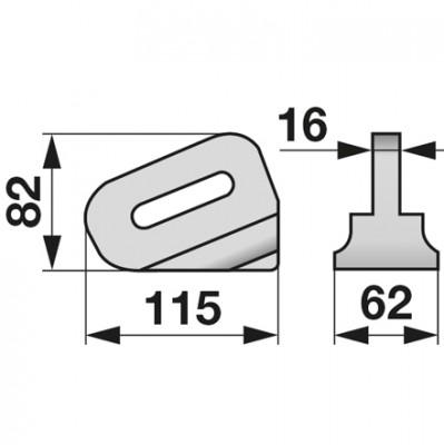 Schleifklotz rechts/links G 1-2 zu Eberhardt