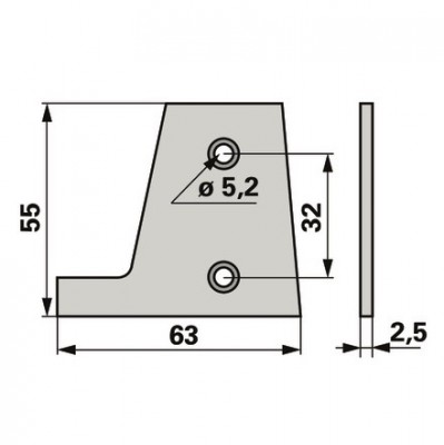 Steyr Schuhplatte glatt 1192720229