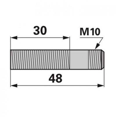 Aebi Stiftschraube M10 x 40 zu Mulchfinger DIN938