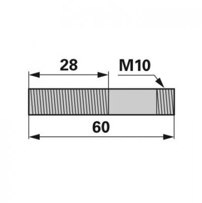 Aebi Stiftschraube M10 x 50 DIN938
