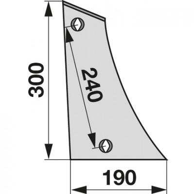 Streichblech-Vorderteil rechts STB 40000 zu Gassner