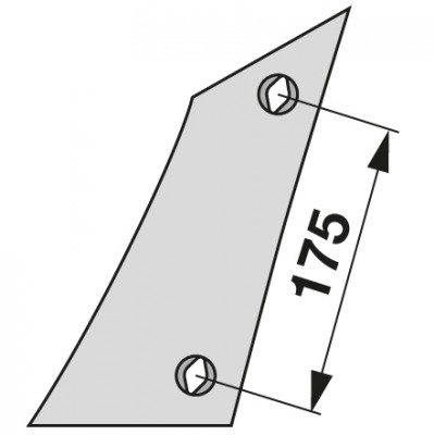 Streichblech-Vorderteil links VST 1070 zu Gassner