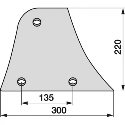 Streichblech-Vorderteil rechts 024080 zu Niemeyer