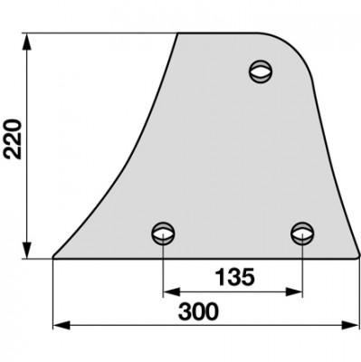 Streichblech-Vorderteil links 024081 zu Niemeyer