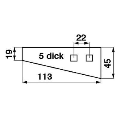 Streuzinke 113x45x5 zu Kirchner