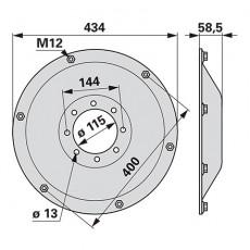 Stützkegel TT018K0 zu Deutz-Fahr Trommelmäher