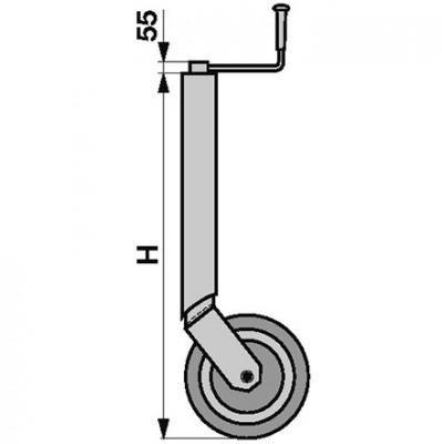 Stützrad starr Höhe 740 mm für Anhänger