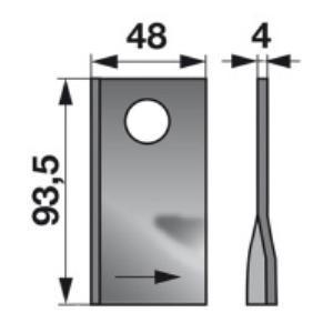 Kreiselmäherklingen links VGTA321 zu PZ-Vicon Trommelmäher