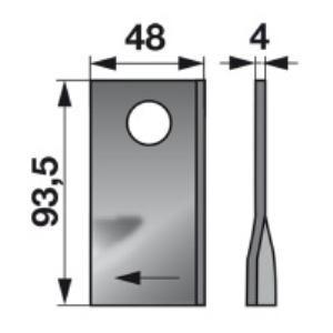 Kreiselmäherklingen rechts VGTA322 zu PZ-Vicon Trommelmäher