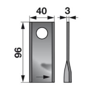 Kreiselmäherklingen rechts VF16502726 zu Deutz-Fahr Scheibenmähe