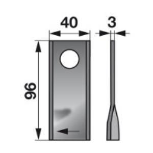 Kreiselmäherklingen links VF16502727 zu Deutz-Fahr Scheibenmähe