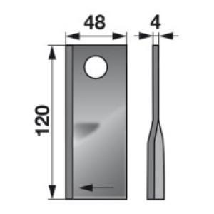 Kreiselmäherklingen rechts VN99358700 zu Deutz-Fahr Scheibenmähe