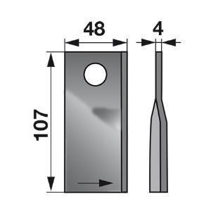 Kreiselmäherklingen links VN99361559 zu Deutz-Fahr Scheibenmäher
