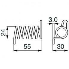 Schenkelfeder - Drehfeder PZ171 zu Vicon - PZ
