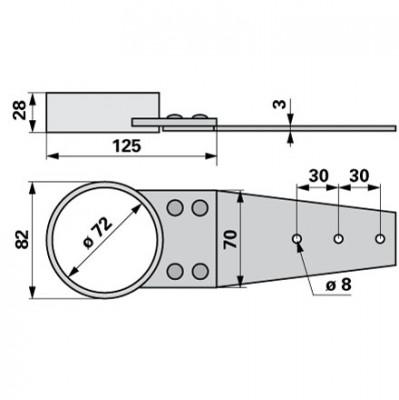 Vogel&Noot Lagerschale Dm 70 mm FE302100