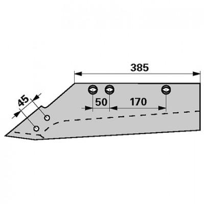 Wechselspitzschar links MRSS 1590 zu Gassner