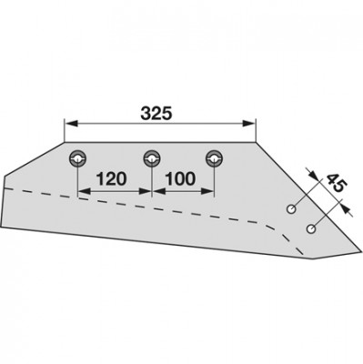 Wechselspitzschar rechts MSS 11384 zu Gassner