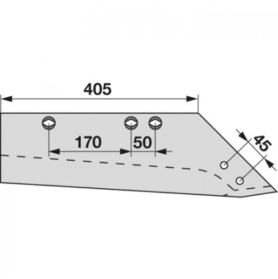 Wechselspitzschar rechts MSS 1560 zu Gassner