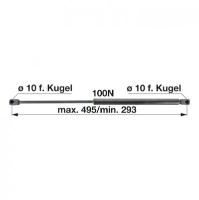 Gasdruckfeder X800.420.491.000 für Tür zu Fendt