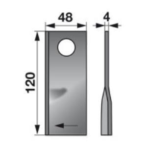 Kreiselmäherklingen links 35-01-7 zu Abbrita Trommelmäher