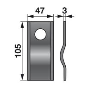 Kreiselmäherklingen 104004.1 zu Claas Trommelmäher