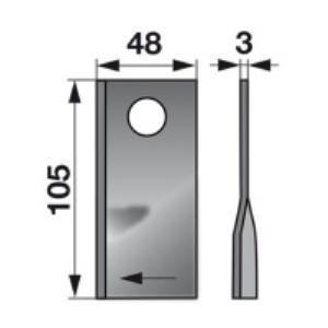Kreiselmäherklingen rechts 904177.8 zu Claas Trommelmäher