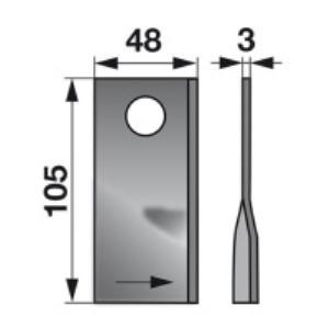 Kreiselmäherklingen links 904178.8 zu Claas Trommelmäher